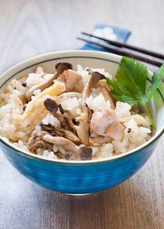 Shimeji mushrooms and chicken are cooked in rice with flavoured Dashi stock. It has great flavour and you can eat Shimeji Gohan by itself without any dishes! Using sticky rice makes the texture of rice so special. Asian Recipes, Ethnic Recipes, Japanese Recipes, Japanese Food, Japanese Dishes, Cooking Measurement Conversions, Gohan, Sticky Rice Recipes, Arrows