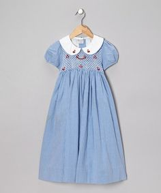 Take a look at this Blue Sign of Spring Dress - Infant, Toddler & Girls by Sweet Dreams on #zulily today!