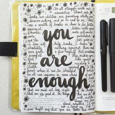 You are enough  Have a lovely weekend my friends!! #letteritjune #journal…