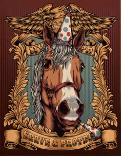 Police Pony by One Horse Town Illustration Studio, via Behance
