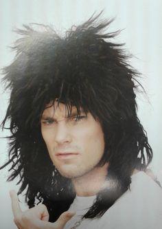 Rockstar Black Theatrical Wig Costume Wigs f0126a56e6ba
