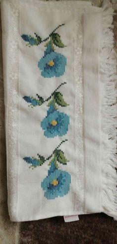 Cross Stitch, Style Inspiration, Elsa, Handmade, Cross Stitch Embroidery, Face Towel, Bath Linens, Ideas, Tulips