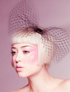 black veil bow headpiece by avaraylondon via Etsy