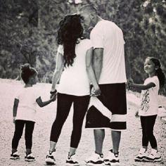Cute Hispanic family wearing matching Jordans .. sooo adorable!