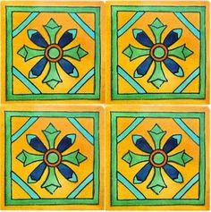 Iris Talavera Mexican Tile Close-Up