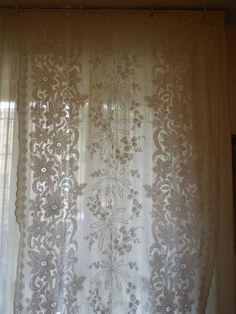 Tenda pizzo meccanico cotton Curtain Rideau h. 316x158 (a) B17