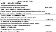 Famous Chinese Quotes - Learn Chinese - Importance of Chinese
