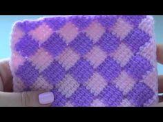 ОБАЛДЕННЫЕ РОМБИКИ КРЮЧКОМ. КЛАССНЫЙ ПЛЕД. Мастер-класс для начинающих от Shatlen Шатлен. - YouTube Tunisian Crochet, Crochet Stitches, Knit Crochet, Crochet Hats, Knitting Videos, Crochet Videos, Borboleta Crochet, Knitting Patterns, Crochet Free Patterns