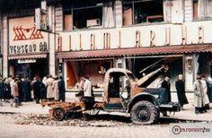 1956. Verseny áruház, Rákóczi út. Budapest Hungary, Old Photos, History, Retro, Old Pictures, Historia, Retro Illustration, Mid Century
