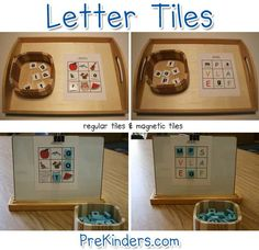 Nice site with lots of great FREE printables and terrific ideas. This page is on Letter Tiles