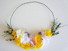 paper flowers by POMPOM Paper Flowers, Wreaths, Decor, Decoration, Door Wreaths, Deco Mesh Wreaths, Decorating, Floral Arrangements, Garlands