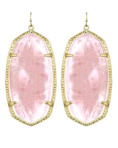 Kendra Scott Danielle Earrings in Rose Quartz. #KendraScott