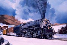 Handsome Baltimore and Ohio EM1 Articulated Steam Locomotive.