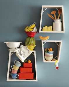 I like this idea for the kitchen wall