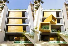 Space-Saving Sharifi House Boasts Mobile Rooms That Rotate With the Push of a Button