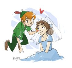 Peter and Wendy  i always thought they should be together.  =)