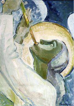 Lennart Segerstråle (1892-1975); Finnish: Pasuunaenkeli (An Angel Blowing a Trumpet), 1951