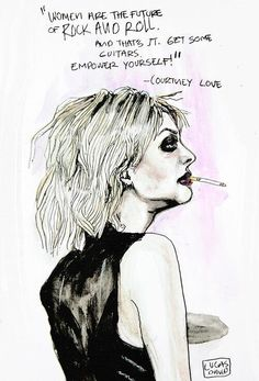 Courtney Love by Lucas David