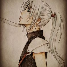 Young Sephiroth by DownInSand