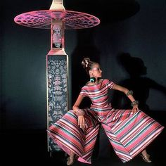 Veruschka wearing Arnold Scaasi, photo by Horst P. Horst for Vogue November 1966 jumpsuit Elsa Schiaparelli, Twiggy, 60s And 70s Fashion, Retro Fashion, Alexa Chung, Fashion Models, Fashion Tips, Fashion Design, Fashion Trends