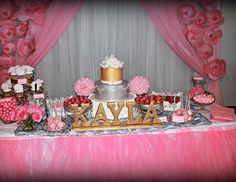 """It'S A Girl/ Pink and silver / Baby Shower """"Glam Baby Shower """" 