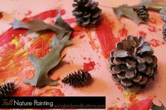 Songbirds and Buttons: Fall Nature Painting - Toddler Activity