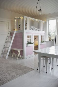cute little pink nook - every little girls dream bedroom and play area | Fröken Knopp : Lekrum... ♠ re-pinned by http://www.wfpcc.com