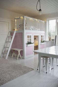 cute little pink nook - every little girls dream bedroom and play area | Fröken Knopp : Lekrum... ♠ re-pinned by http://www.wfpcc.com