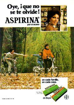 Aspirina Bayer Publicidad de los años 80