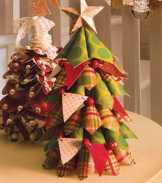 We love how @DCWV Inc. Inc. paper stacks were used to create these fun Christmas trees! #fabulouslyfestive