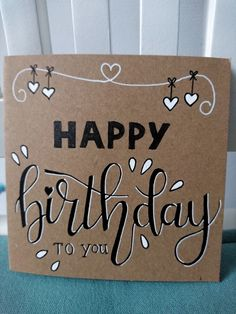 41 Ideas For Gifts Handmade Birthday Bday Cards Handmade Birthday Cards, Happy Birthday Cards, Diy Birthday, Birthday Gifts, Birthday Quotes, Tarjetas Diy, Birthday Card Drawing, Calligraphy Cards, Bday Cards