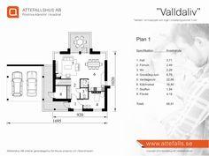 """Villa """"Valldaliv"""" planritning 1  Besök www.attefalls.se"""