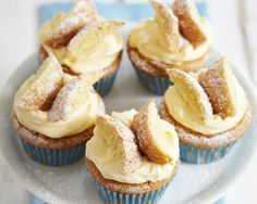 James Martins quick and simple fairy cakes are filled with cream and lemon curd and topped with sponge butterfly wings