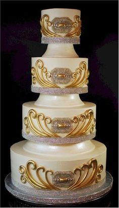 Pictures Of Cake Boss Wedding Cakes Cake Boss Wedding, Bling Wedding Cakes, Amazing Wedding Cakes, Unique Wedding Cakes, Wedding Cake Designs, Wedding Cupcakes, Wedding Cake Toppers, Amazing Cakes, Gold Wedding