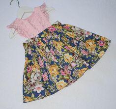 Girls PinaforeToddler DressToddler PinaforeFloral Fabric