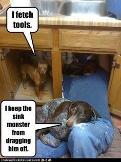We're helping Dad!
