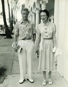 Duke and Duchess of Windsor, Palm Beach, Florida, 1946 by The Bert Morgan Archive, via Flickr... Love her style