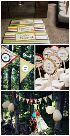 Half Baked – The Cake Blog » Real Party: S'mores Camp Out
