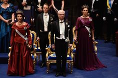 MyRoyals:  Nobel Prize Ceremony, Stockholm, Sweden, December 10, 2015-Queen Silvia, Prince Daniel King Carl Gustaf, Crown Princess Victoria