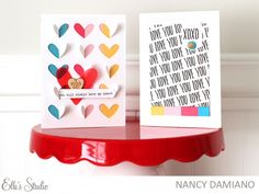 Heart Cards by Nancy Damiano for Elle's Studio