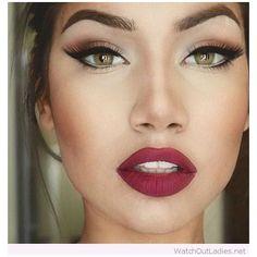 Green eyes, big red lips and updo - Nisha Pancharatnam - Rote Lippen - Make-up Gorgeous Makeup, Love Makeup, Makeup Tips, Beauty Makeup, Makeup Looks, Hair Beauty, Makeup Ideas, Makeup Products, Beauty Products