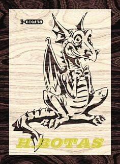Intarsia Wood Patterns, Pyrography Patterns, Wood Carving Patterns, Stencil Patterns, Dragon Crafts, Dragon Art, Air Brush Painting, Stencil Painting, Xmas Clock