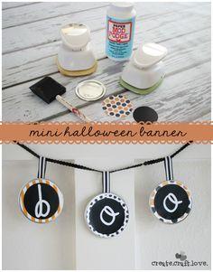 Create this Mini Halloween Banner in less than 5 minutes via createcraftlove.com for The 36th Avenue