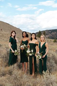 Affordable Green Wedding Dresses Ideas To Try Right Now - Bridesmaid Dress Green Wedding Dresses, Fall Bridesmaid Dresses, Bridesmaids And Groomsmen, Green Bridesmaids, Emerald Green Bridesmaid Dresses, Taupe Bridesmaid, Different Bridesmaid Dresses, Bohemian Bridesmaid, Emerald Green Weddings