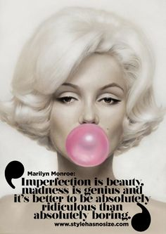 "Marilyn Monroe: ""Imperfection is beauty..."" - Style has No size"