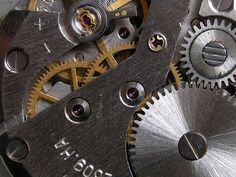 gears, industrial, metal, silver, gold, screws, cold, smooth ...