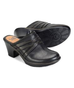 Another great find on #zulily! Black Leigh Leather Clog #zulilyfinds