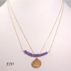 Gold and Gemstone Layer Necklace | Felicity Jewelry Designs, Handmade Jewelry, Fashion Jewelry