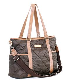 Take a look at this Brown Danah Diaper Bag by Perry Mackin on #zulily today!