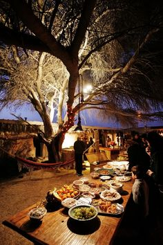 Bedouin style catering for this wedding in the Negev desert in Israel!